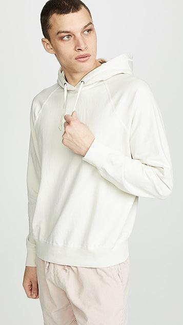 Save Khaki Supima Fleece Pullover Hooded Sweatshirt