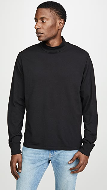 Save Khaki Cotton Mock Neck Tee