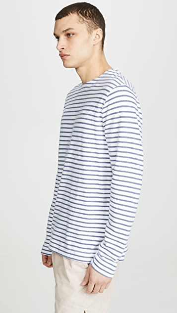 Save Khaki Striped Mariner Tee