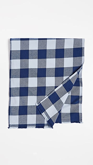 Save Khaki Buffalo Plaid Scarf