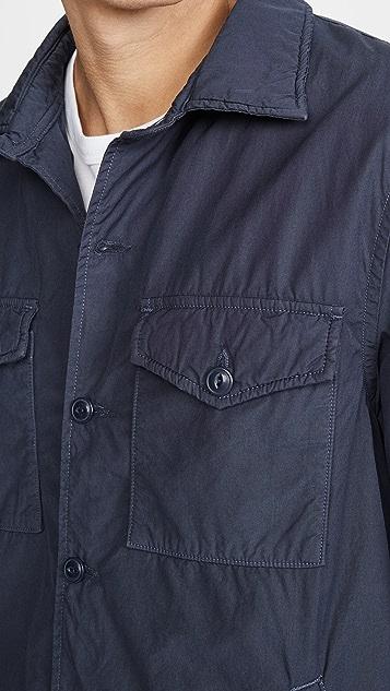 Save Khaki Fleece Lined Shirt Jacket