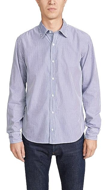 Save Khaki Long Sleeve Chambray Easy Shirt