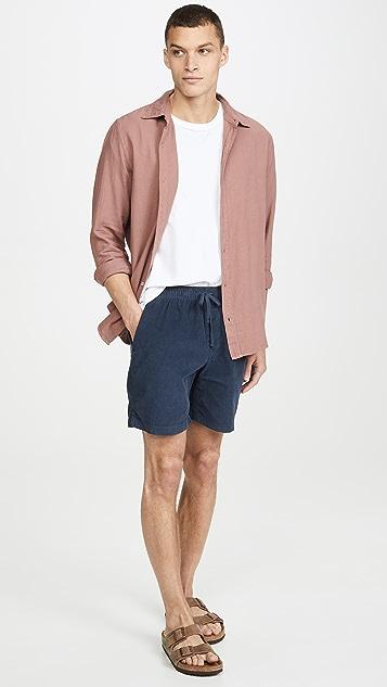 Save Khaki Long Sleeve Flannel Easy Shirt