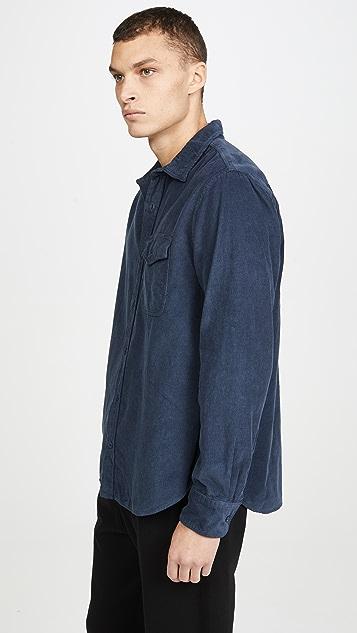 Save Khaki Long Sleeve Corduroy Overshirt
