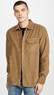 Save Khaki Long Sleeve Corduroy Overshirt