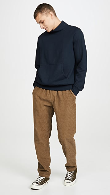 Save Khaki Long Sleeve Suprima Fleece Mockneck Sweatshirt