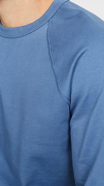Save Khaki Long Sleeve Suprima Fleece Crew Neck Sweatshirt
