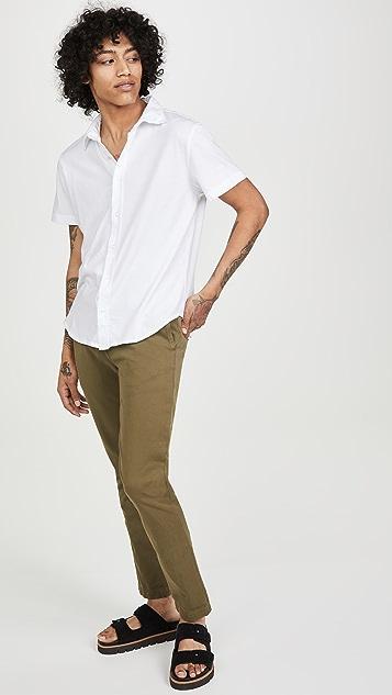 Save Khaki Supima Jersey Short Sleeve Shirt