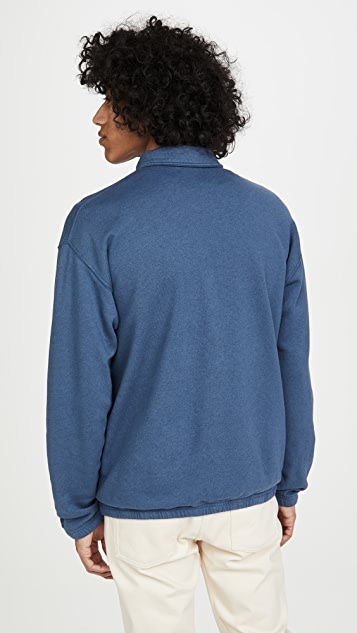 Save Khaki Quarter Zip Sweatshirt