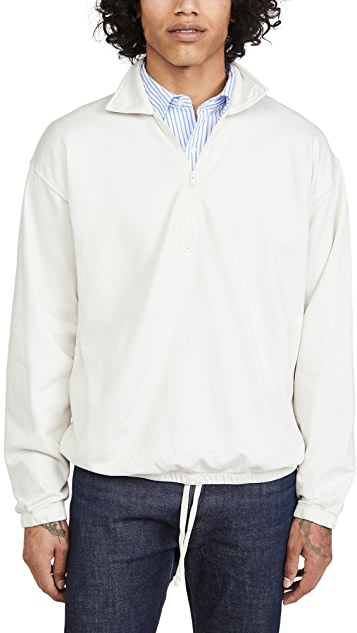 Save Khaki Pima Quarter Zip Sweatshirt