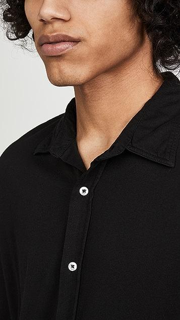 Save Khaki Supima Jersey Long Sleeve Shirt