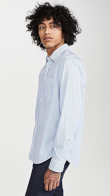Save Khaki Yarn Dyed Long Sleeve Shirt