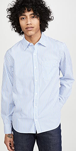 Save Khaki - Yarn Dyed Long Sleeve Shirt