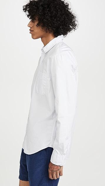 Save Khaki Poplin Long Sleeve Shirt