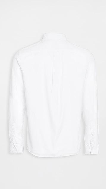 Save Khaki Button Down Oxford Shirt