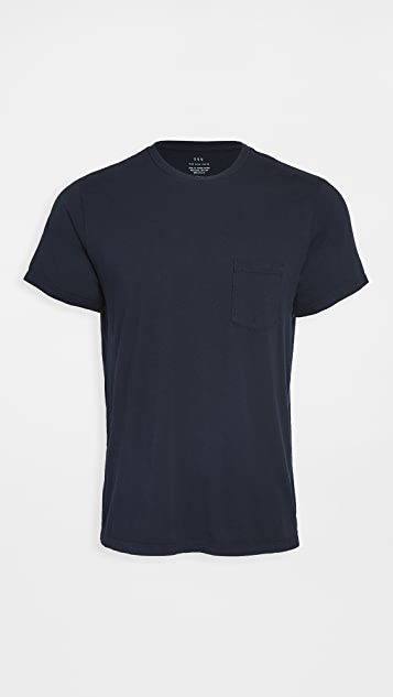Save Khaki Short Sleeve Supima Pocket Tee