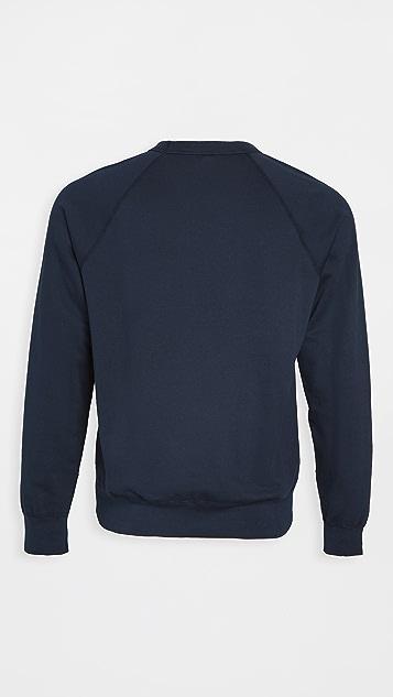 Save Khaki Long Sleeve Supima Fleece Sweatshirt