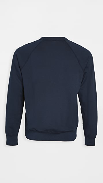 Save Khaki Long Sleeve Supima Fleece Sweatshirt