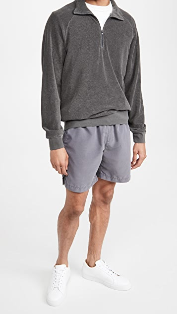 Save Khaki Beach Terry Quarter Zip Sweatshirt