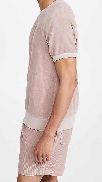 Save Khaki Short Sleeve Beach Terry Sweatshirt