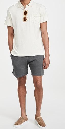 Save Khaki - Heather Fleece Easy Shorts