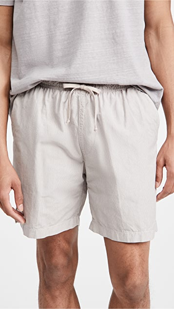 Save Khaki Yarn Dye Stripe Easy Shorts