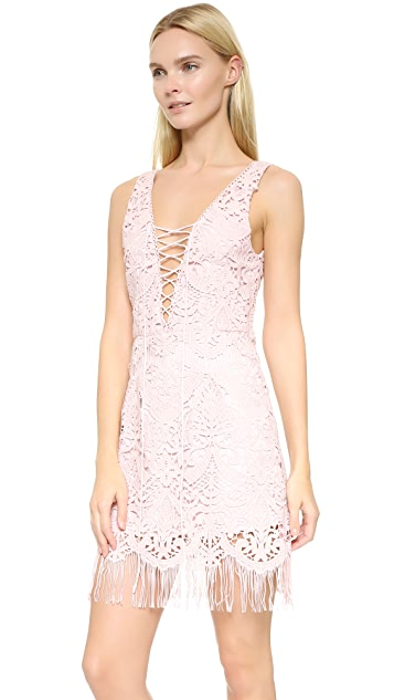 Saylor Elana Fringe Crisscross Dress