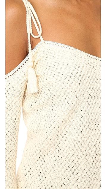 Saylor Niki Cold Shoulder Sweater