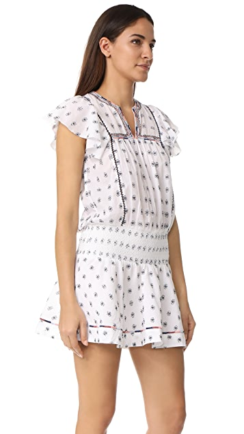 Saylor Britt Embroidered Mini Dress