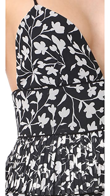 Saylor Brooke Pleated Floral Dress