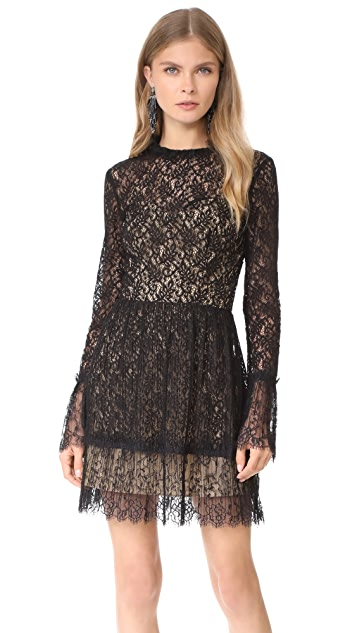 Saylor Amity Pleated Lace Dress