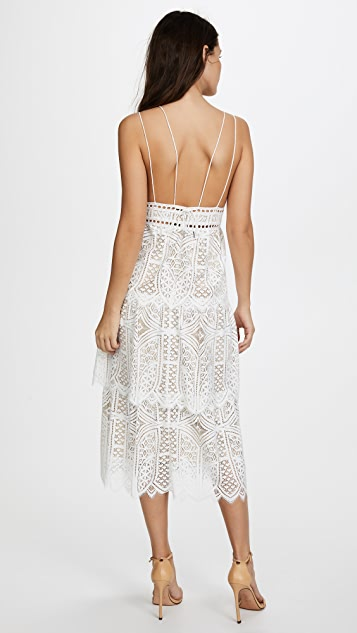 Saylor Sunny Tiered Lace Dress