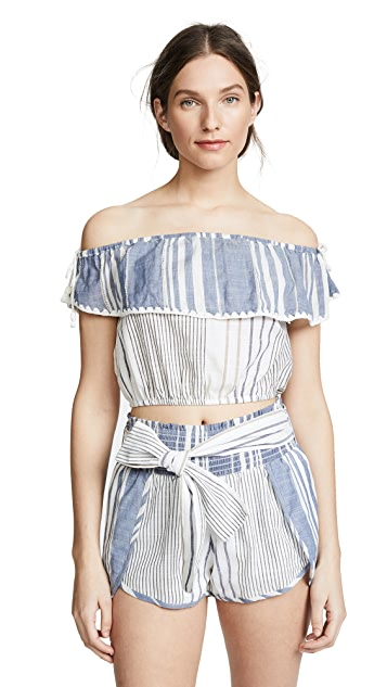 Saylor Thia Off the Shoulder Top & Shorts Set
