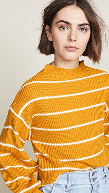 Saylor Bette Striped Mock Neck Sweater