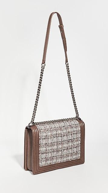 Shopbop Archive Chanel 大号男孩风格翻盖包,鱼子纹款