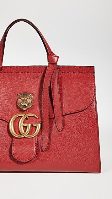 Shopbop Archive Gucci Brass Tiger Marmont Medium Bag