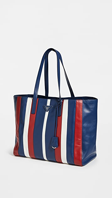 Shopbop Archive Prada Leather Stripe Tote