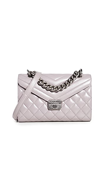 Shopbop Archive Chanel Chevron Quilted Flap Bag
