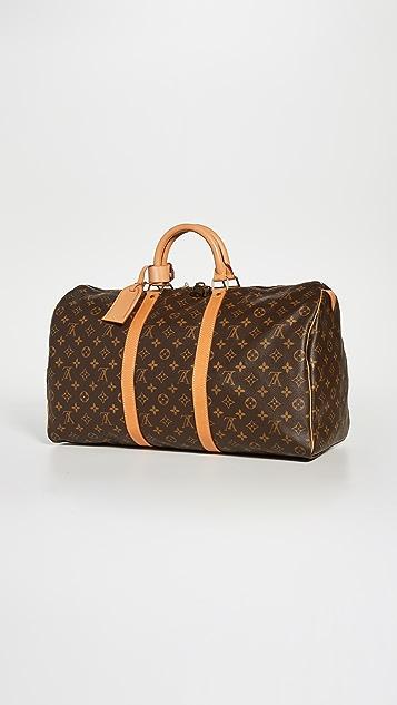 Shopbop Archive Louis Vuitton Keepall 50 交织字母包