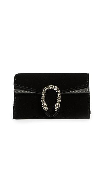 Shopbop Archive Gucci Dionysus Velvet Chain Shoulder Bag