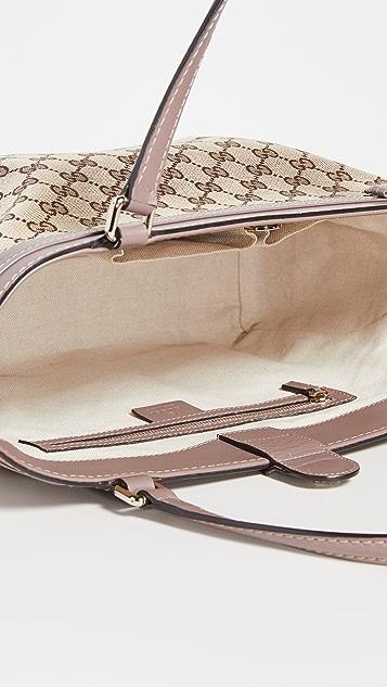 Shopbop Archive Gucci Mayfair 交织字母帆布托特包
