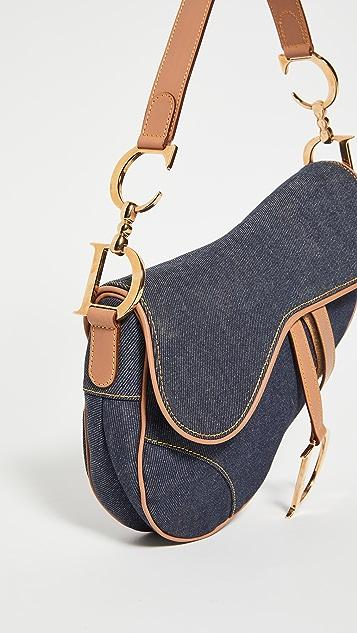 Shopbop Archive Christina Dior 牛仔布马鞍包