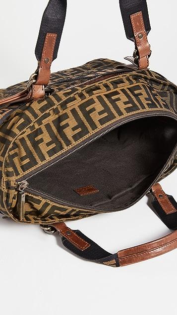 Shopbop Archive Fendi Front Belt Handbag Zucca Canvas