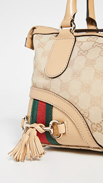 Shopbop Archive Gucci GG Canvas Horsebit Fringe Bag