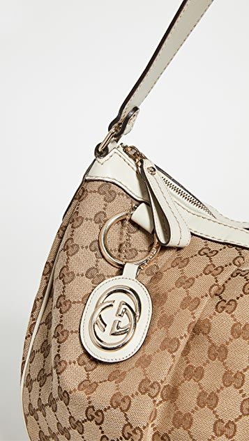 Shopbop Archive Gucci Sukey Medium Hobo Monogrammed Canvas Bag