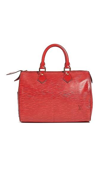 Shopbop Archive Louis Vuitton Speedy 黑色缝线 25 包