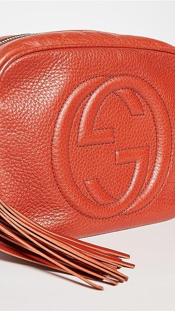 Shopbop Archive Gucci Soho 迪斯科 PM 正面徽标木纹 l