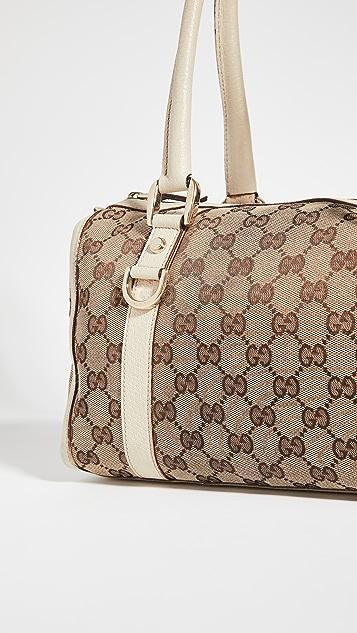 Shopbop Archive Gucci Abbey 迷你 Boston GG 帆布包