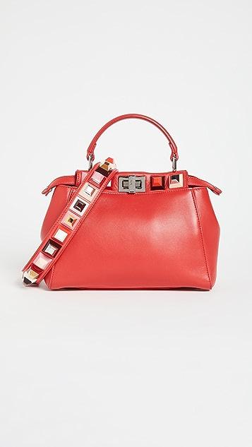 Shopbop Archive Fendi Studded Mini Peekaboo Bag