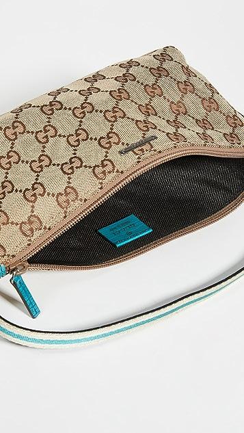 Shopbop Archive Gucci Boat Pochette Gg Canvas Bag